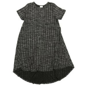 LuLaRoe Elegant Metallic Black Carly Dress M